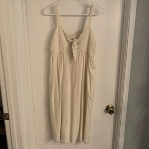 Who What Wear Cream Midi Dress with Pockets!